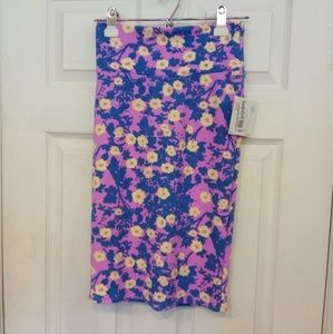 LuLaRoe Cassie pencil skirt floral